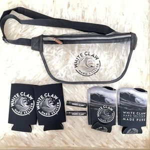 NEW White claw 7 piece gift set. FANNY PACK, Koozie's, and lip moisturizer